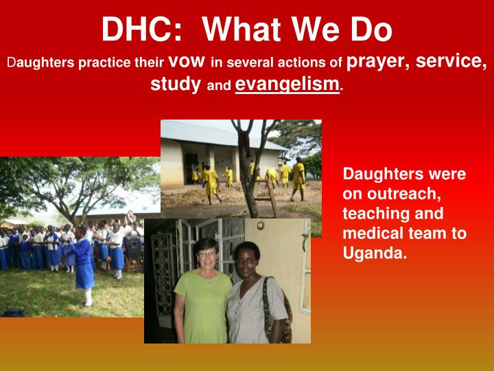 DHC:  What We Do