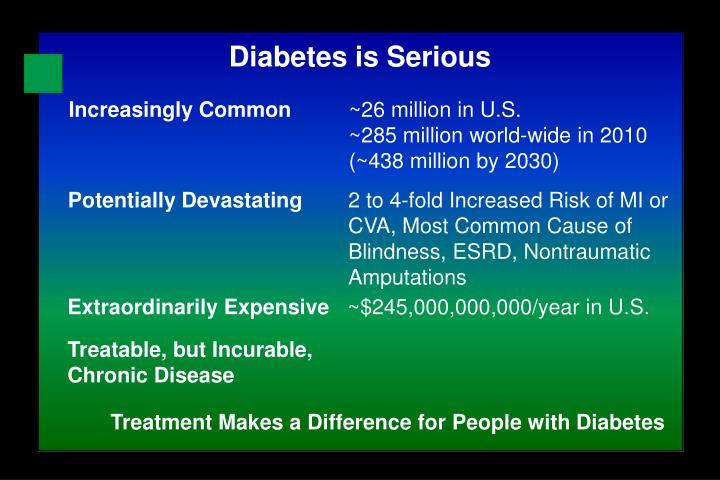 Diabetes is Serious