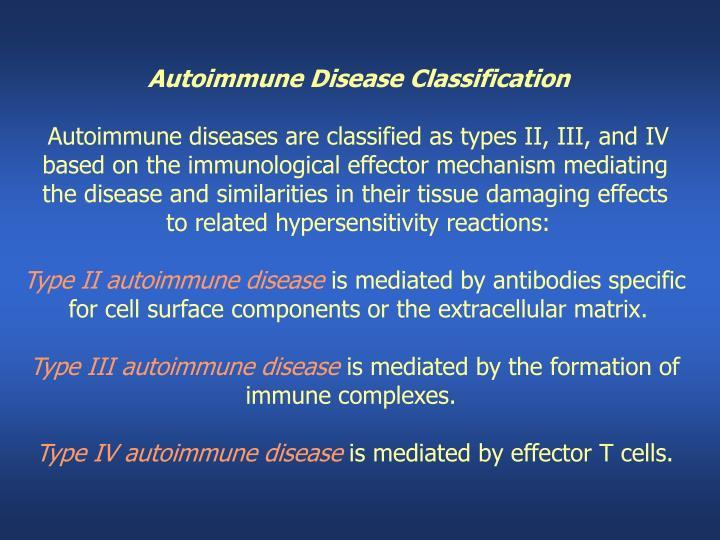 Autoimmune Disease Classification
