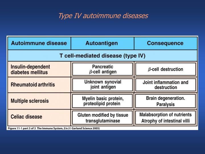 Type IV autoimmune diseases