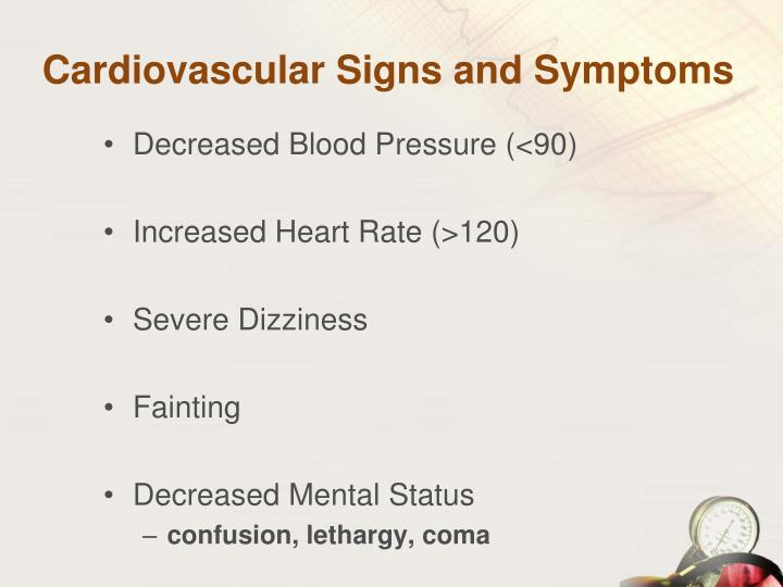 Cardiovascular Signs and Symptoms