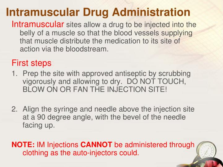 Intramuscular Drug Administration