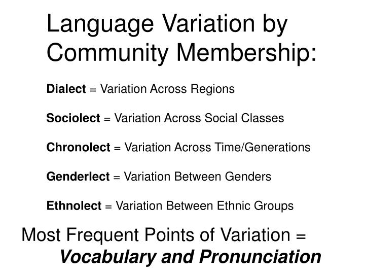 Language Variation by