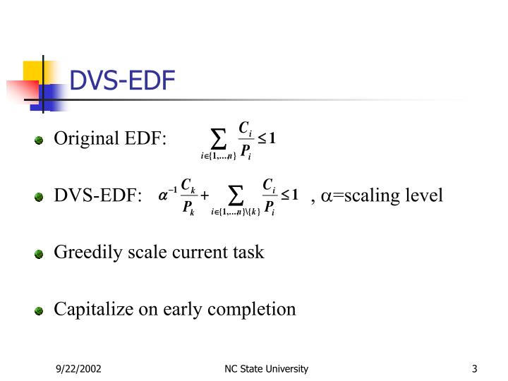 DVS-EDF