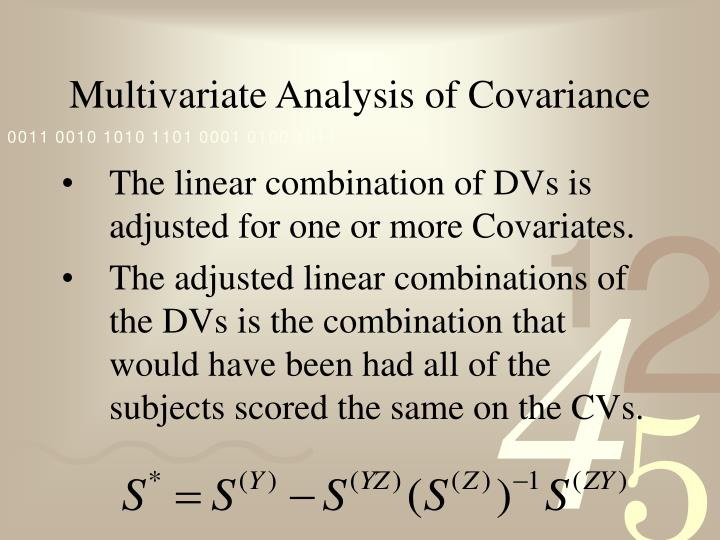Multivariate analysis of covariance