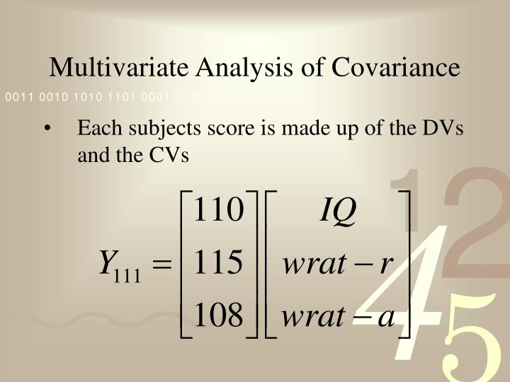 Multivariate analysis of covariance1