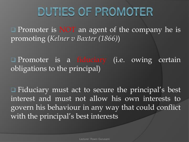 Promoter is