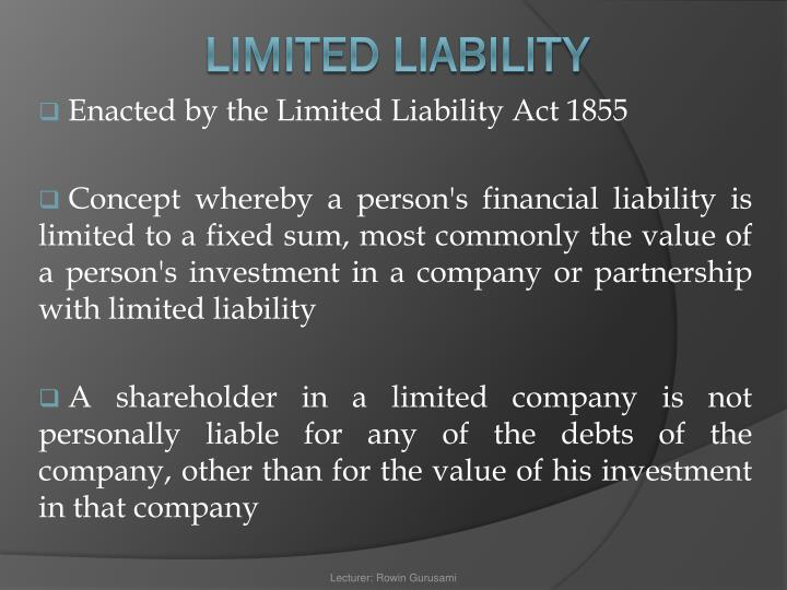 Enacted by the Limited Liability Act 1855
