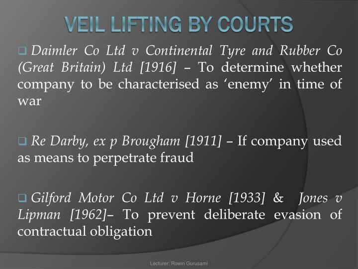 Daimler Co Ltd v Continental Tyre and Rubber Co (Great Britain) Ltd [1916]