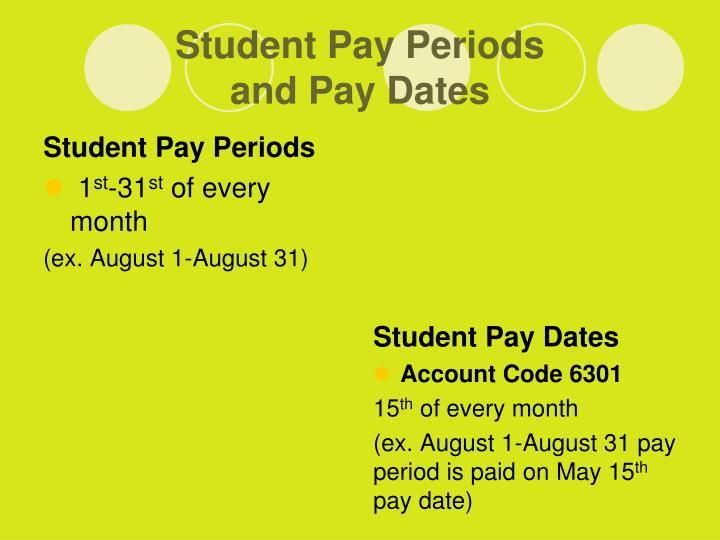 Student Pay Periods