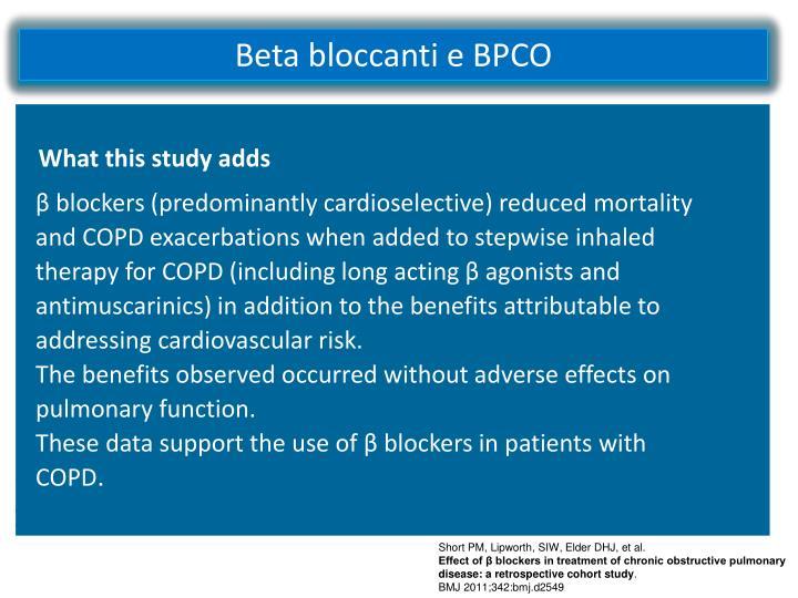 Beta bloccanti e BPCO