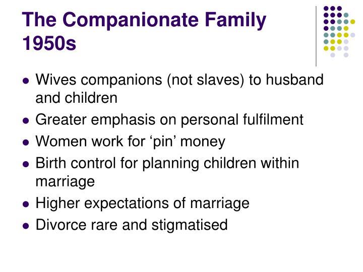 The Companionate Family 1950s