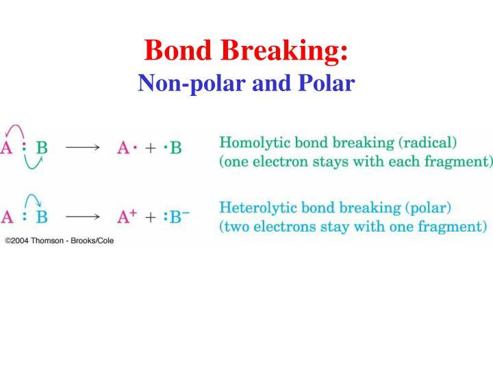 Bond Breaking: