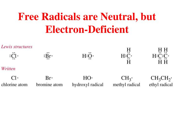 Free Radicals are Neutral, but Electron-Deficient