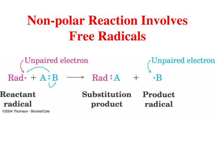 Non-polar Reaction Involves