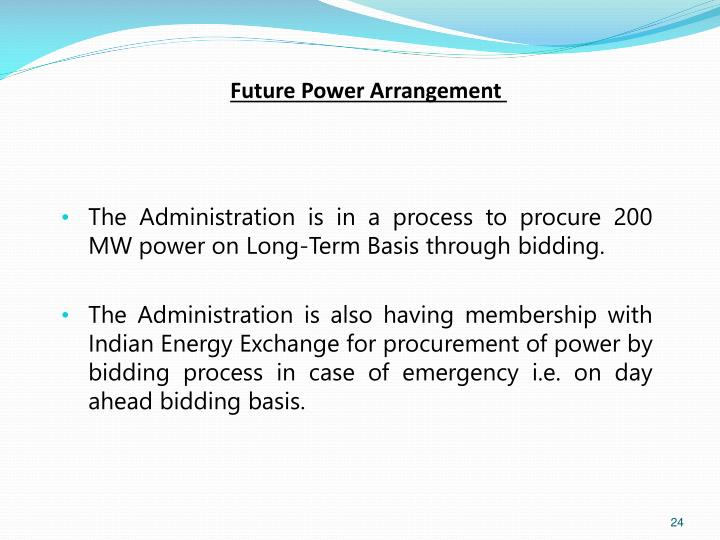 Future Power Arrangement