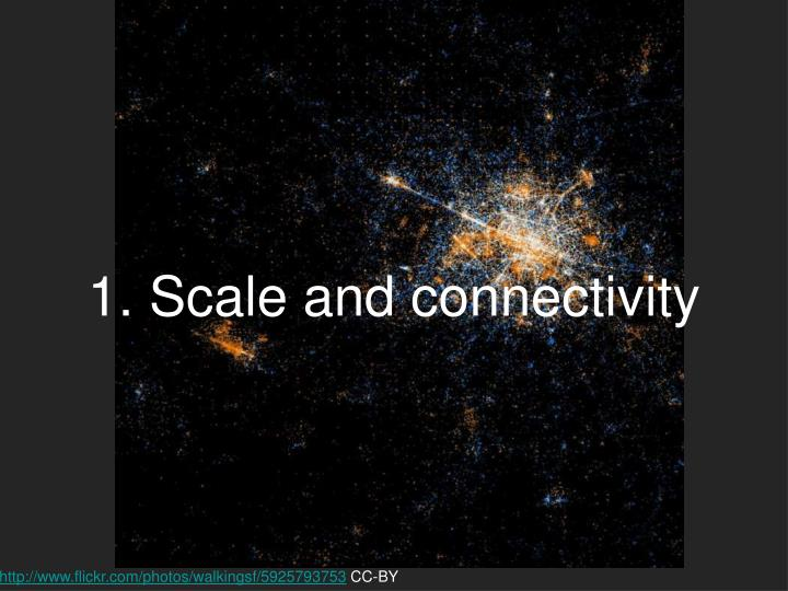 1. Scale and connectivity