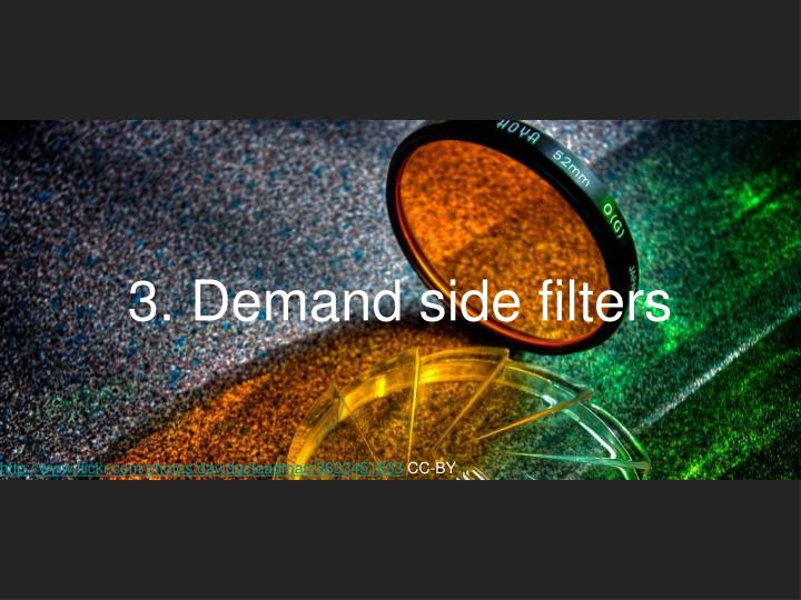 3. Demand side filters
