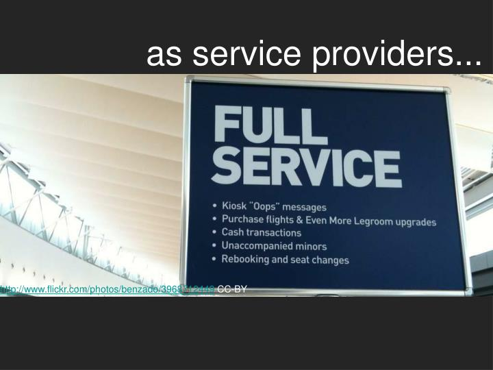 as service providers...