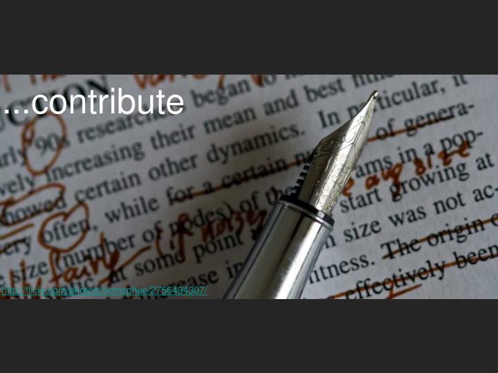 ...contribute