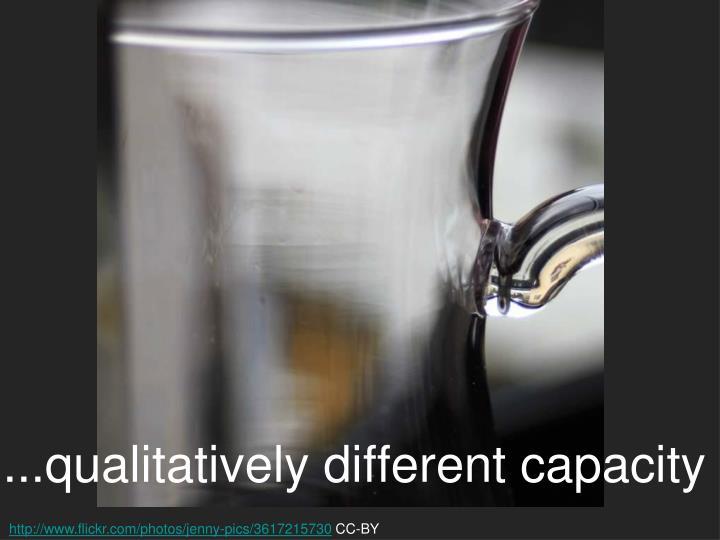 ...qualitatively different capacity