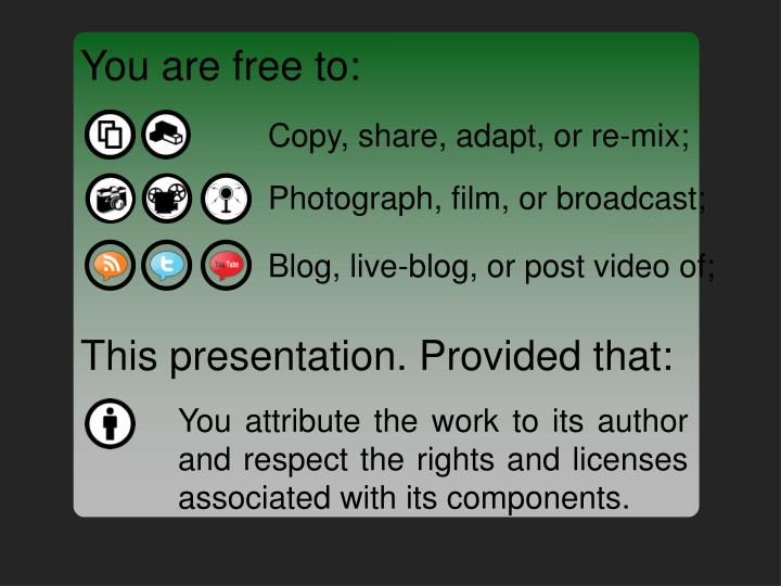 You are free to: