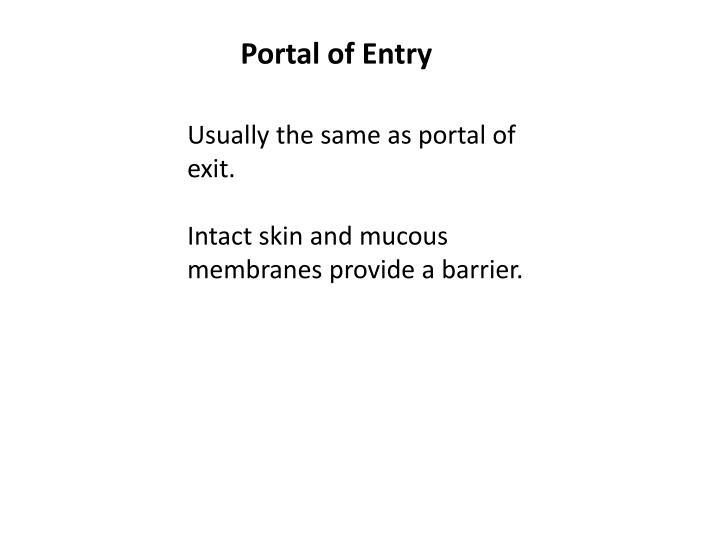 Portal of Entry
