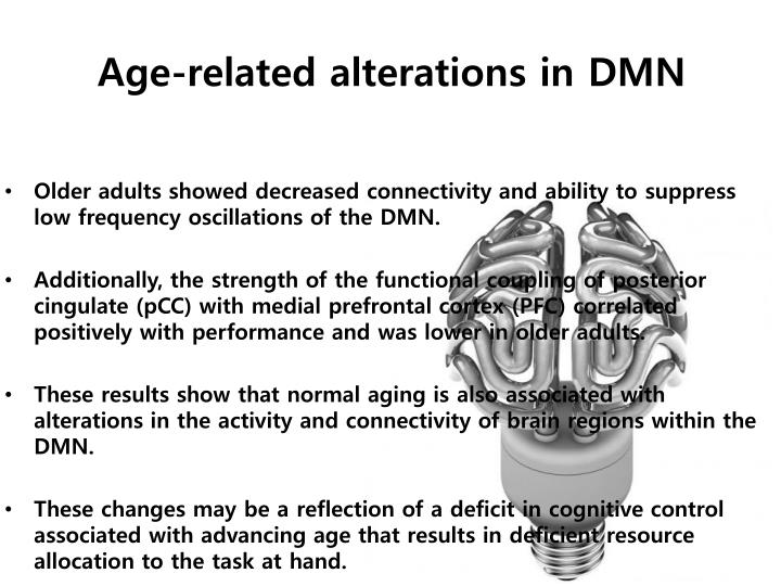 Age-related alterations in DMN