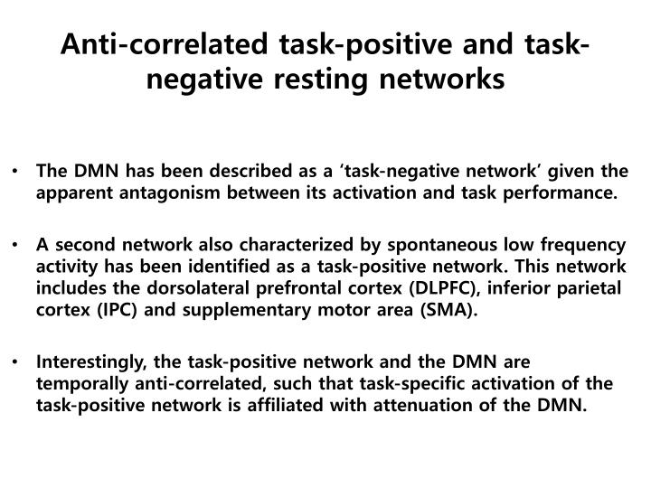 Anti-correlated task-positive and task-negative resting networks