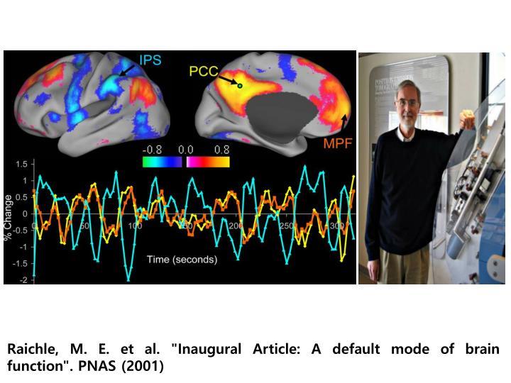 """Raichle, M. E. et al. """"Inaugural Article: A default mode of brain function"""". PNAS (2001)"""