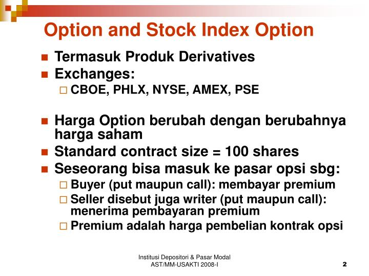 Option and Stock Index Option