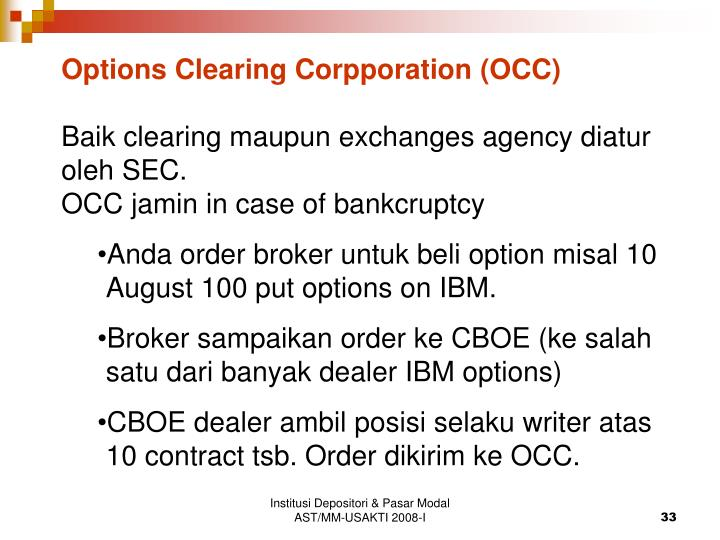 Options Clearing Corpporation (OCC)