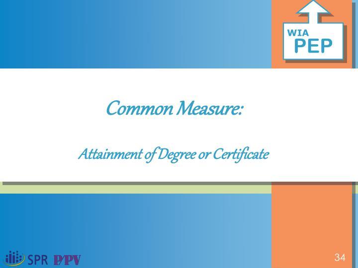 Common Measure:
