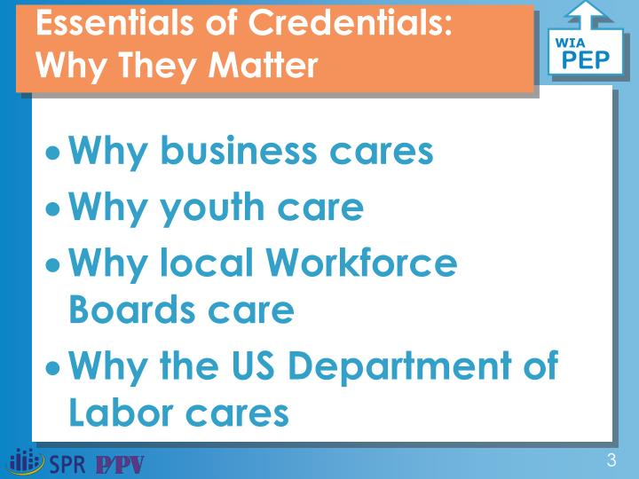 Essentials of Credentials: Why They Matter