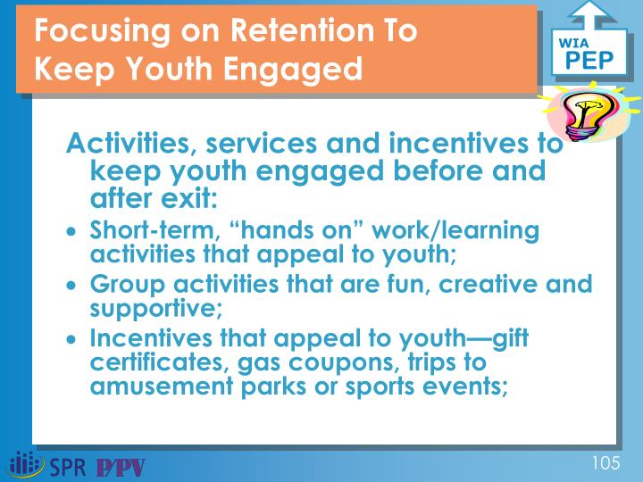 Focusing on Retention To Keep Youth Engaged