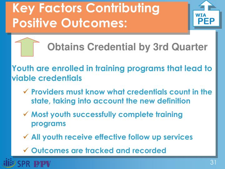 Key Factors Contributing Positive Outcomes: