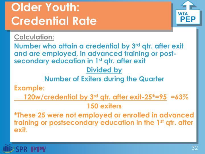 Older Youth: