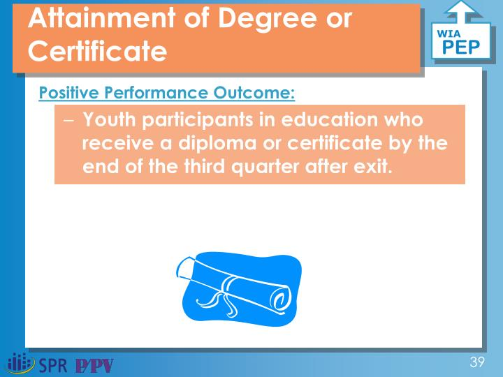 Attainment of Degree or Certificate