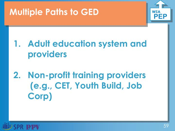 Multiple Paths to GED