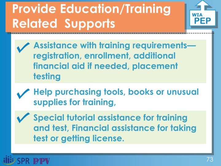 Provide Education/Training  Related  Supports