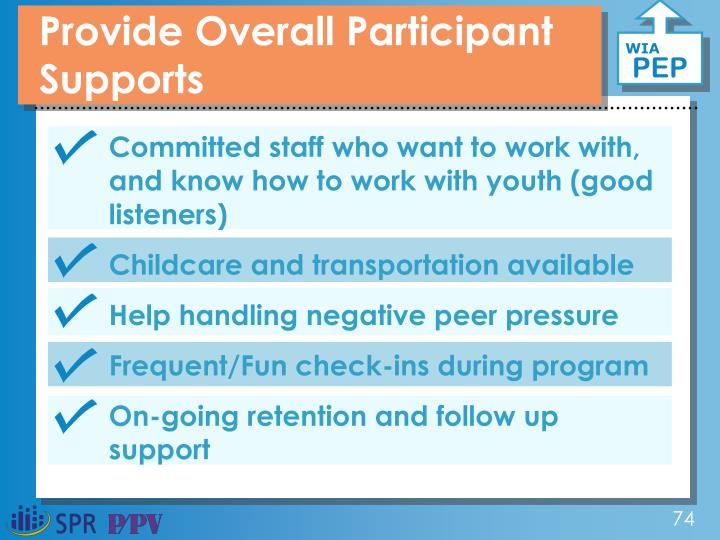 Provide Overall Participant Supports