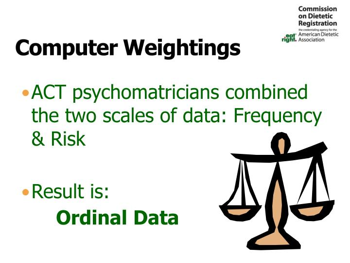 Computer Weightings