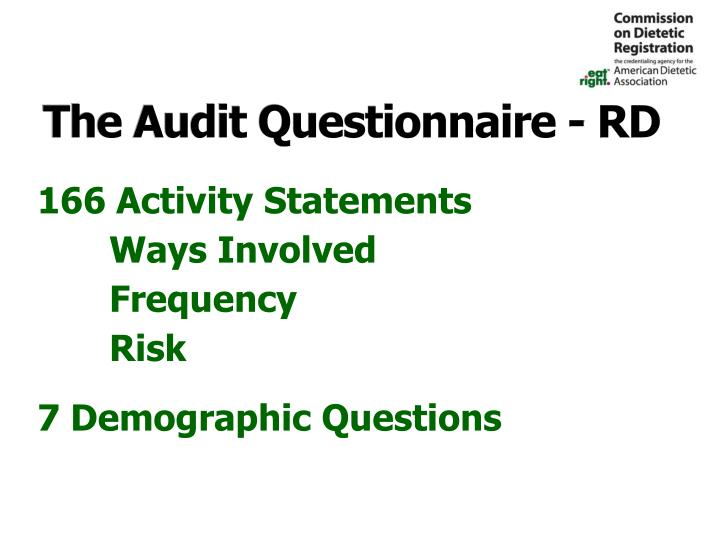 The Audit Questionnaire - RD