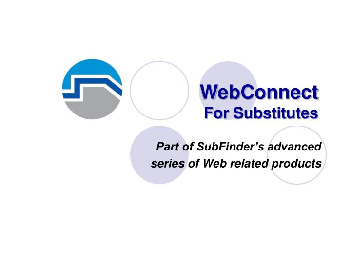 webconnect for substitutes