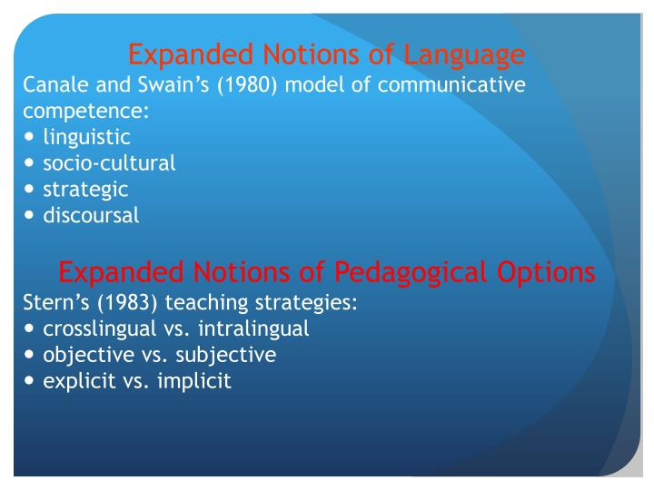Expanded Notions of Language