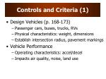 controls and criteria 1