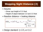 stopping sight distance 2