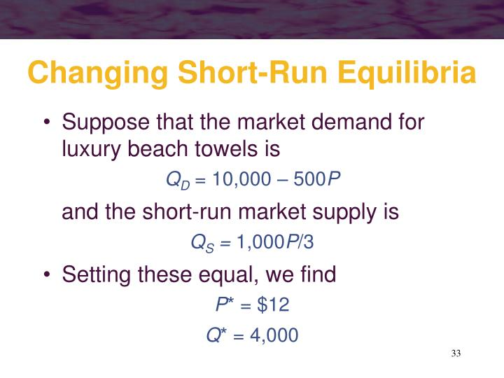 Changing Short-Run Equilibria