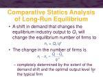 comparative statics analysis of long run equilibrium2