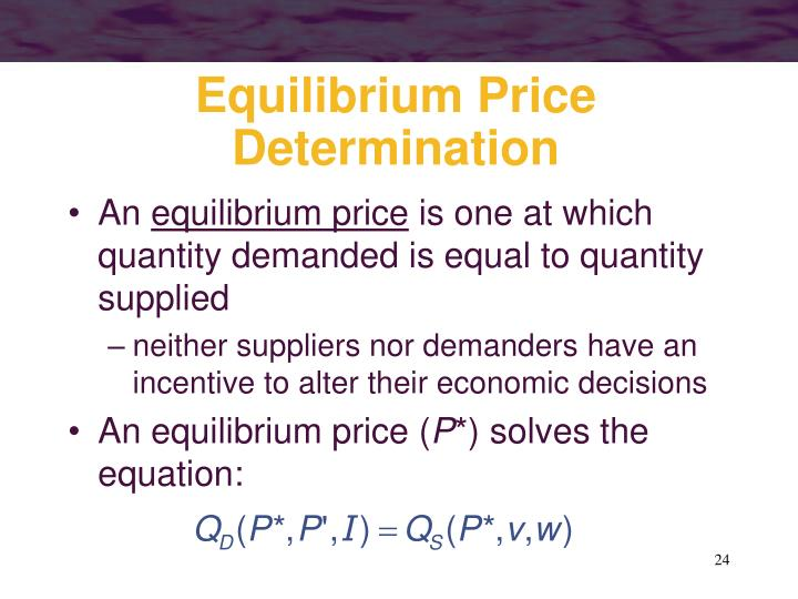 Equilibrium Price Determination